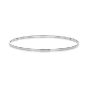 64mm Plain Bangle in 9kt White Gold