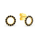 0.16ct Black Diamond Stud Earrings in 9kt Yellow Gold