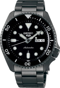 Seiko Mens Automatic Black Dial Stainless Steel Watch - SRPD65K