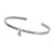 SterlingSilver cuff bangle- Always my mother WG plating