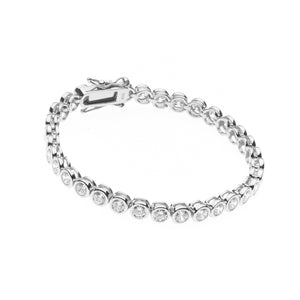 Sybella Large cubic zirconia sterling silver tennis bracelet