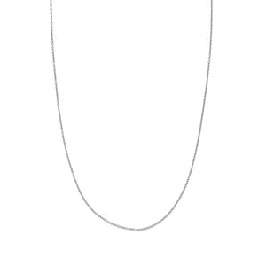 9kt White Gold 0.9mm Tiffany Chain 45cm 0.7gr