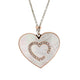 Italian Made Heart, Sterling Silver & MOP Pendant