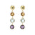 9kt yellow gold Italian made natural gemstone drop earrings