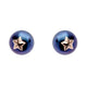 Sybella Freshwater black pearl with rose gold plate star studs
