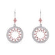 Sybella Rhodium & rose gold plate pave set open circle earring - Sterling Silver - Cubic Zirconia