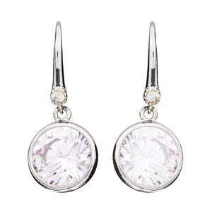 Sybella Silver bezel set cubic zirconia earrings