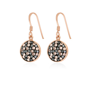 JMC Swarovski Sterling Silver Rose Gold Twilight Sizzle Earrings - Sterling Silver - Swarovski Crystal