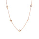 Sybella Yellow gold plate bezel cubic zirconia chain necklace - Sterling Silver - Cubic Zirconia
