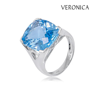 Veronica - 14.00ct Blue Topaz Ring