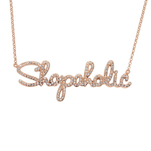 Jo Munro Collection Shopaholic Necklace in 18kt Rose Gold Plated Sterling Silver