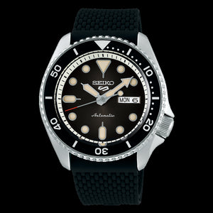 Seiko Mens Automatic Analogue Black Dial Stainless Steel Watch SRPD73K-2