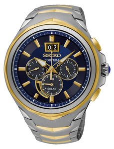 Seiko men's Coutura solar chronograph watch SSC642P