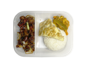 MOCK CHICKEN TZE CHAR RICE SET