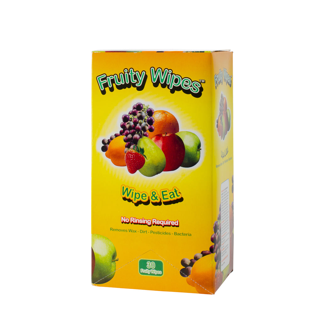 One Case of 30 Count Boxes (1,200 Wipes) - Fruity Wipes