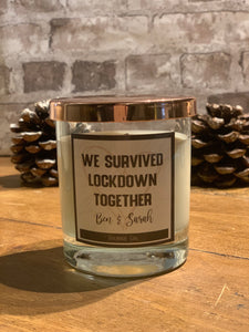 We Survived Lockdown Together Personalised  - Heart