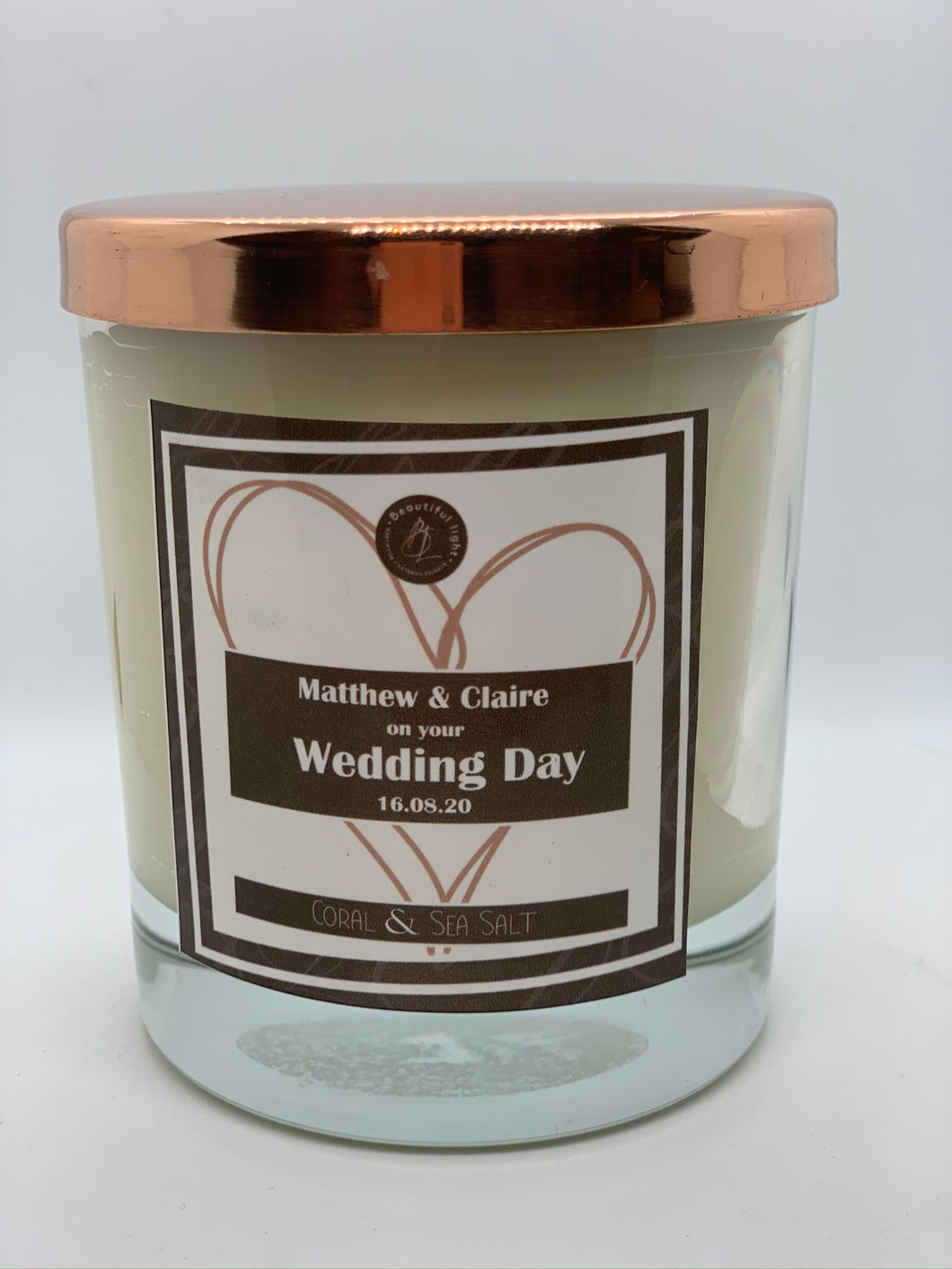 Wedding Gift Candle with Heart
