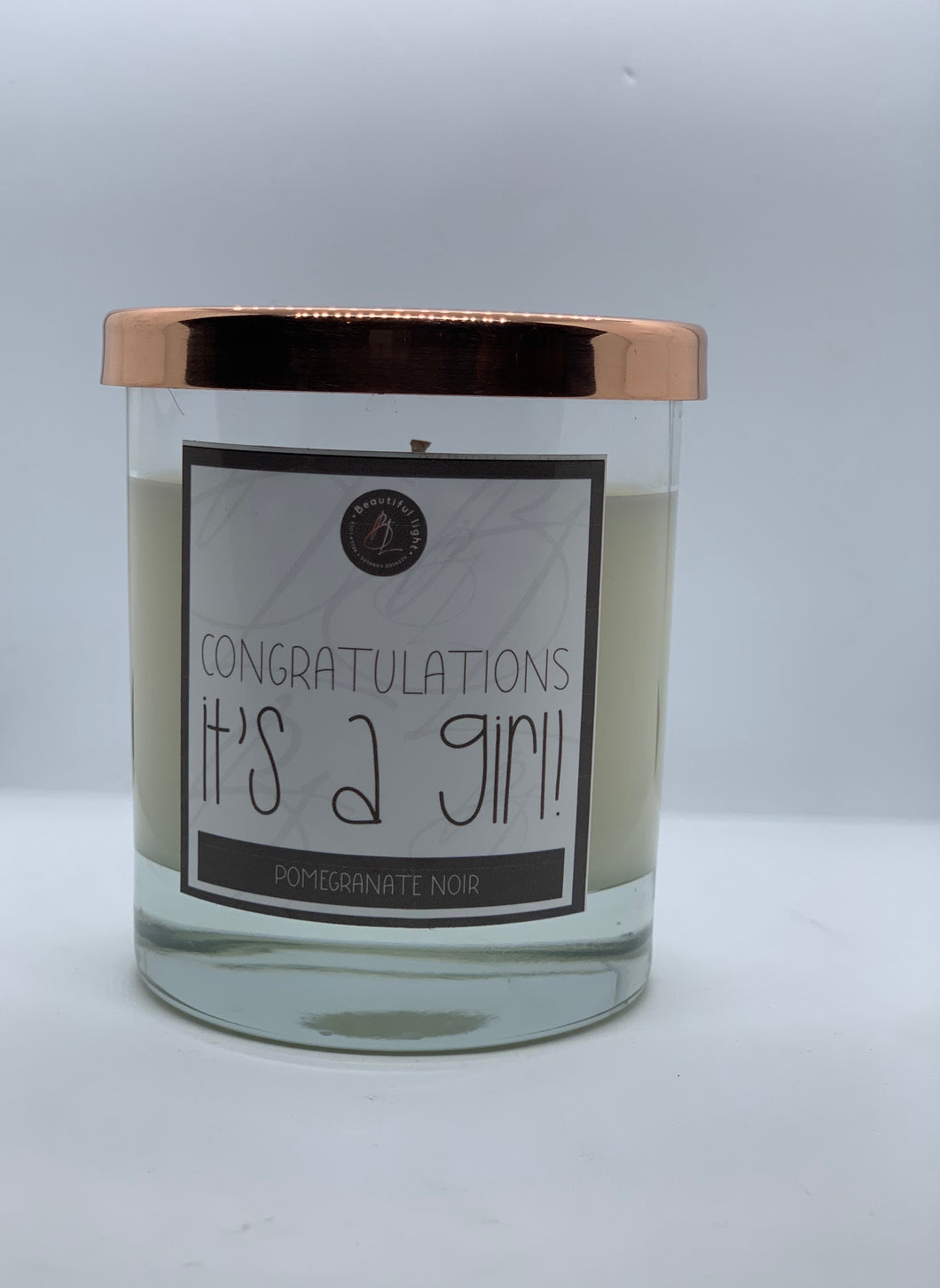 New Baby Candle - Its a Girl!