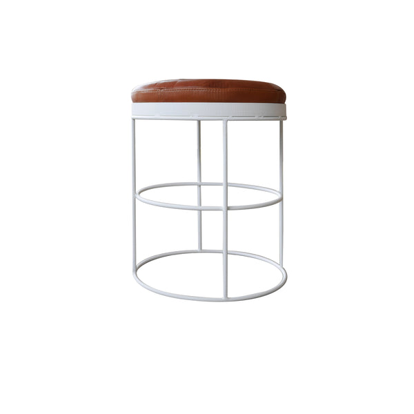 Tabouret Circle Cuir - honoredeco