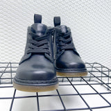 Toddlers 'Harley' Lace-Up Leather Boots in Black