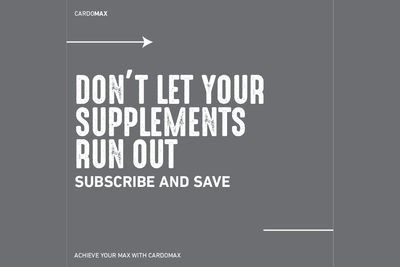 Get Started With CardoMAX Subscribe & SAVE Club