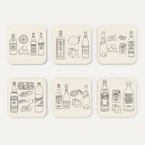 Summer Cocktail Coasters (Pack of 6)