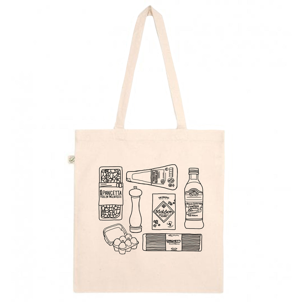 Carbonara Tote Bag