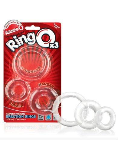 RingO 3-pack Stretchy Clear Cock Rings