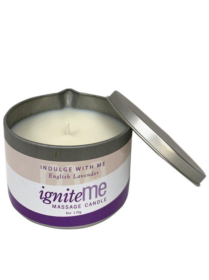 Ignite Me Massage Candle Indulge With Me (English Lavender)