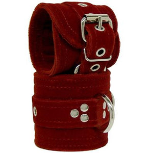 Velvet Wrist Restraints Burgundy