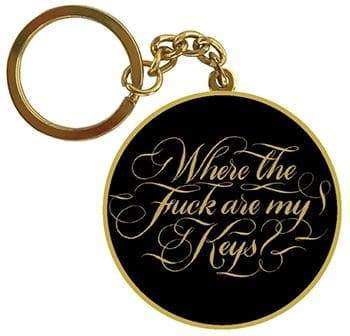 Where the F#ck Are My Keys Keychain