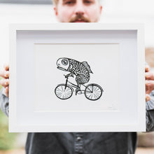 Load image into Gallery viewer, Fish on a Bike