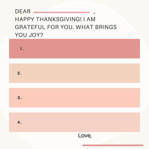 Thanksgiving Gratitude Letter