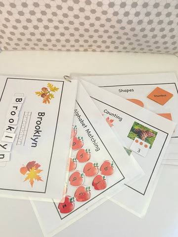 Fall Preschool Learning Packet