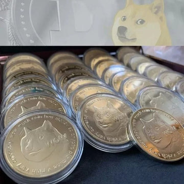 DOGECOIN UV COLOR PRINTING DOGECOIN NEW COMMEMORATIVE COIN-HS074