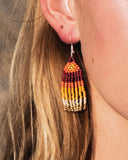 Mojave Beaded Fringe Earrings