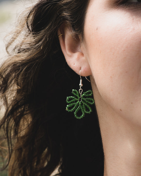 Banana Leaf Hand Shaped Earrings