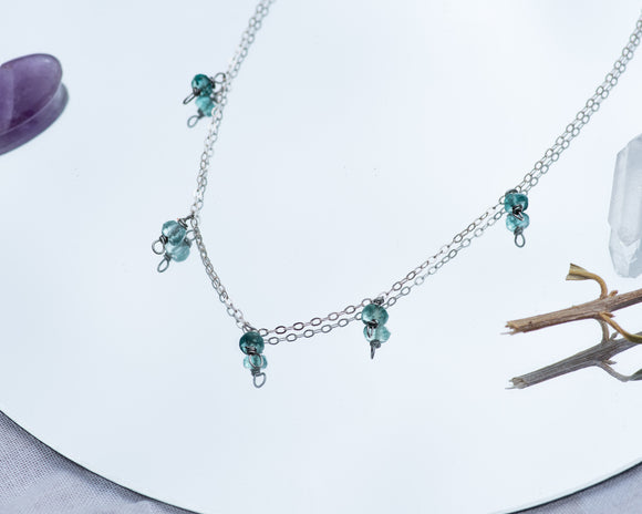 Apatite Confetti Necklace