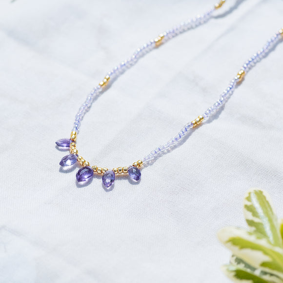 Calming Beaded Intention Necklace