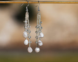 Silver Crystal Rain Earrings