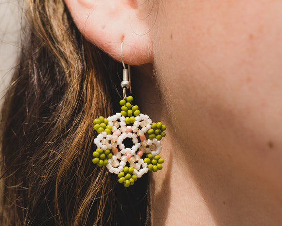Desert Blossom Beaded Earrings