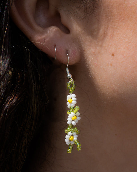 Triple Daisy Vine Earrings
