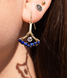 Evil Eye Crystal Earrings ONE OF A KIND