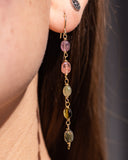 Flora Tourmaline Earrings ONE OF A KIND