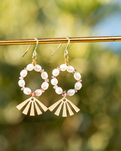 Flourish Pearl Earrings ONE OF A KIND