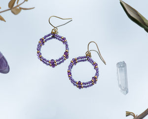 Orchid Amethyst Earrings