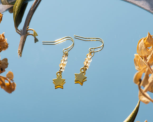 Citrine Twinkle Earrings