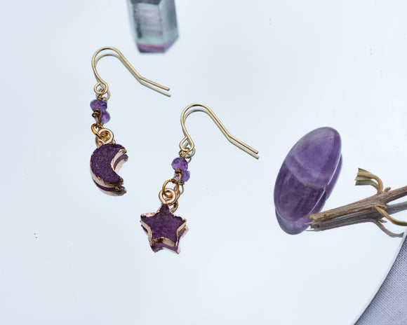Amethyst Nova Earrings