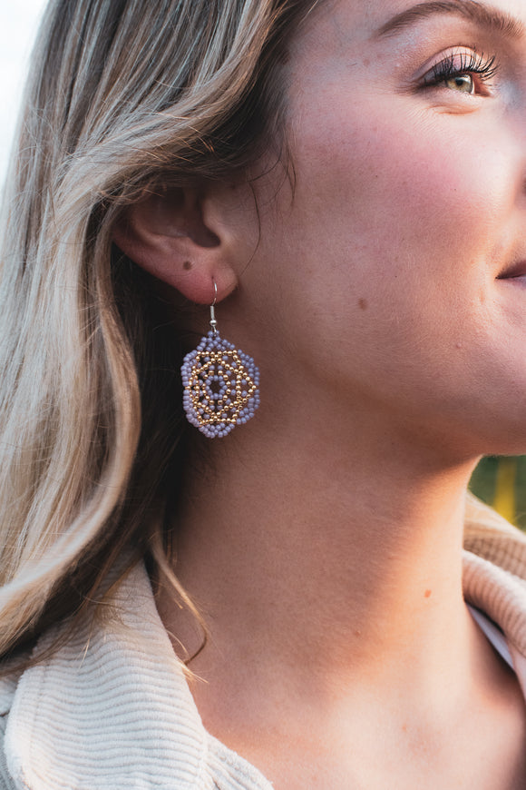 Golden Accent Mandala Earrings
