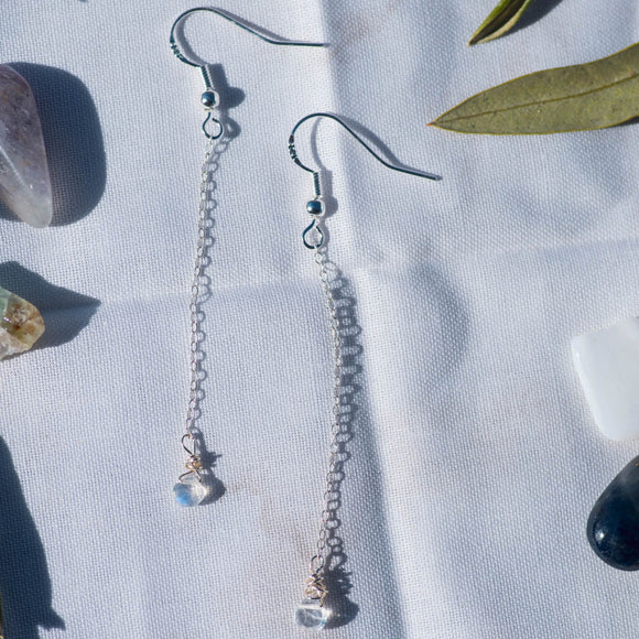 Raindrop Moonstone Earrings